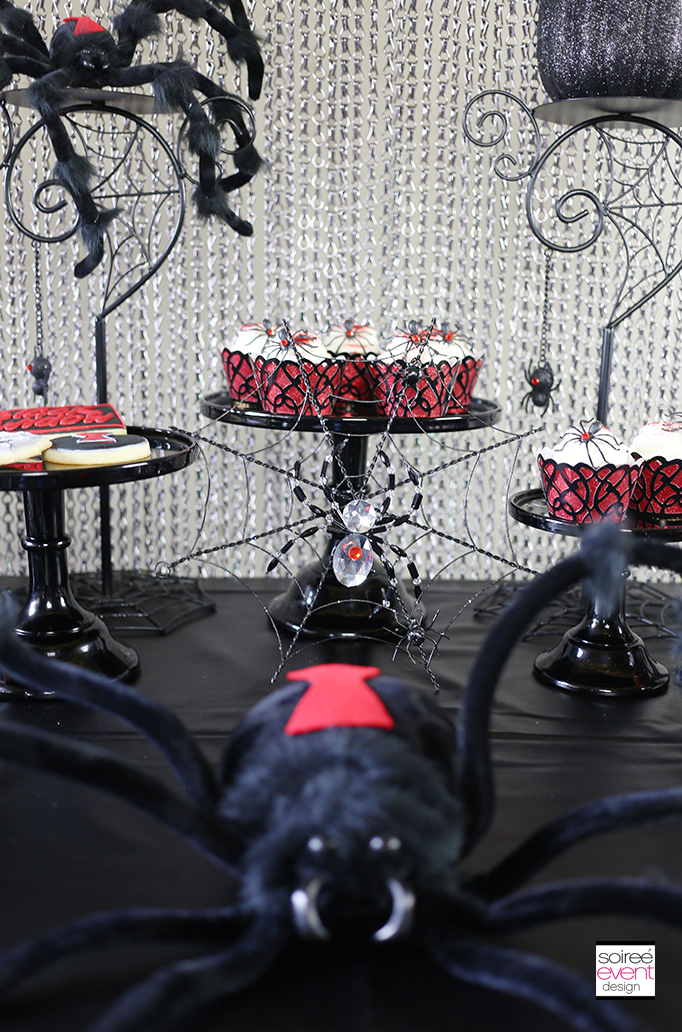 Black Widow Dessert Table 3