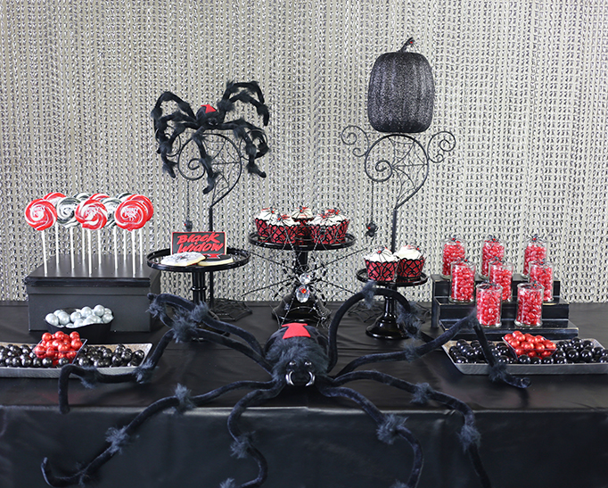 Black Widow Dessert Table