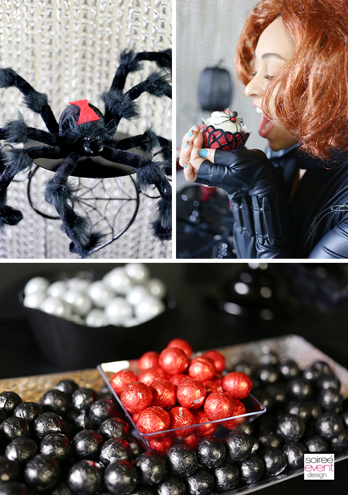 Black Widow Party Candy Table