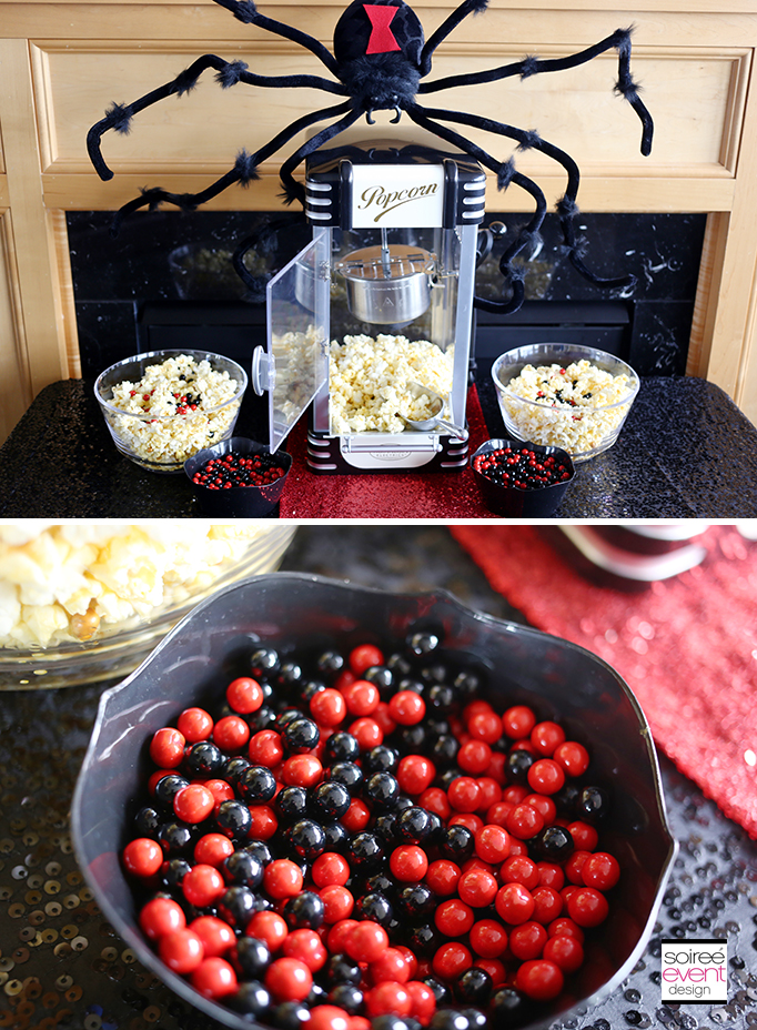 Black Widow Party Popcorn Bar