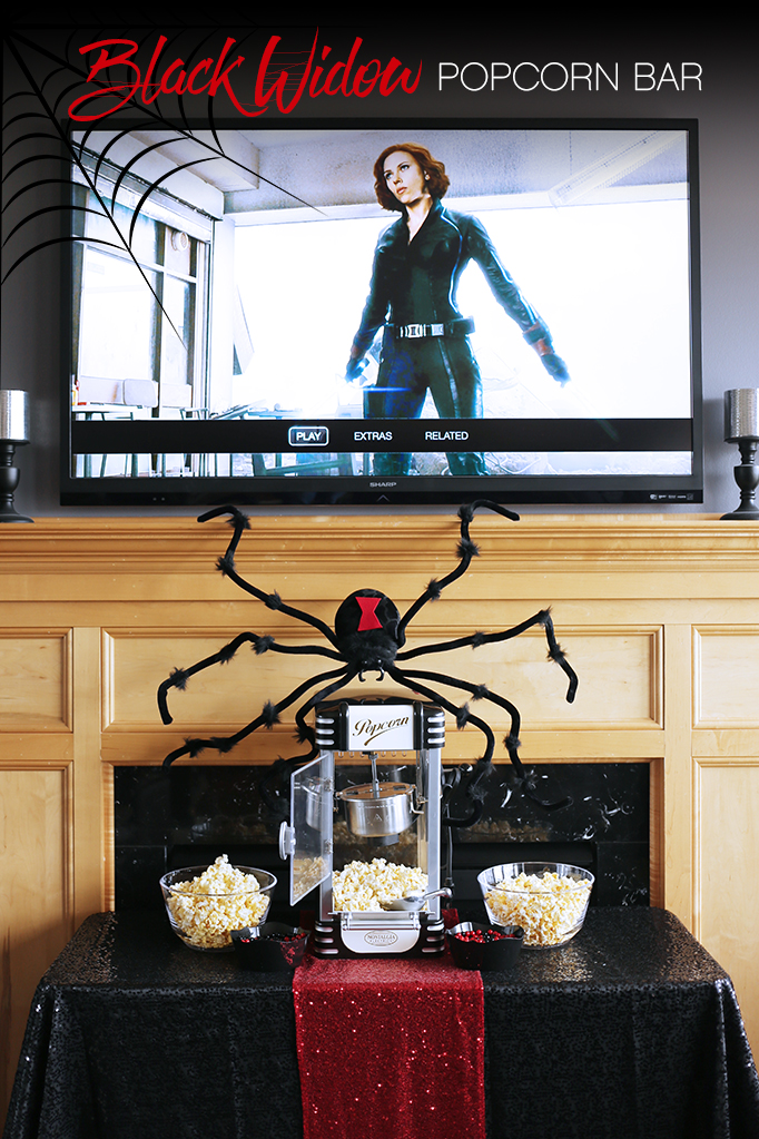 Black Widow Popcorn Bar