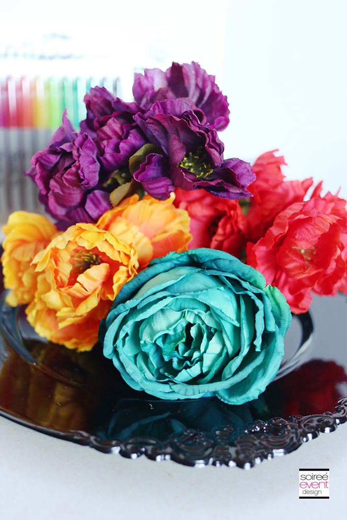 Day of the Dead Wreath DIY - Flowers
