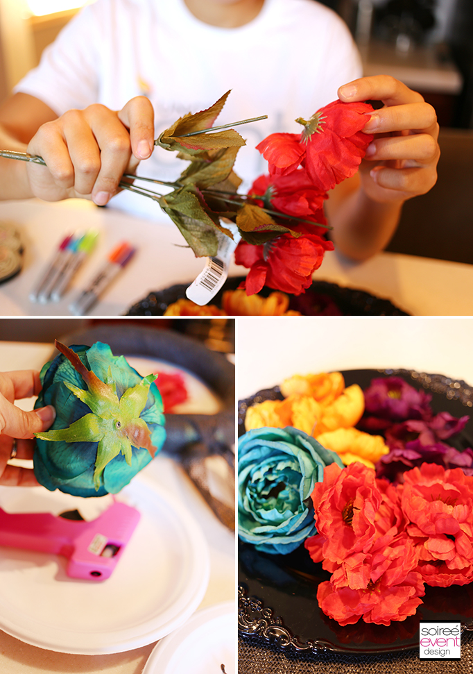 Day of the Dead Wreath DIY - Step 3