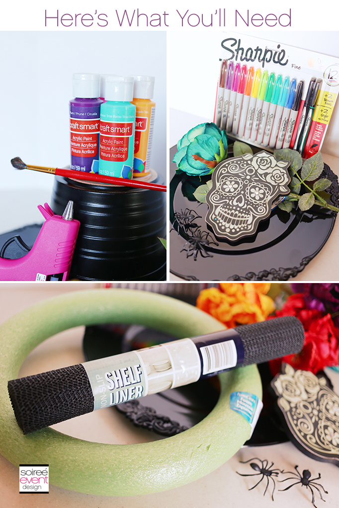 Day of the Dead Wreath DIY - Supplies