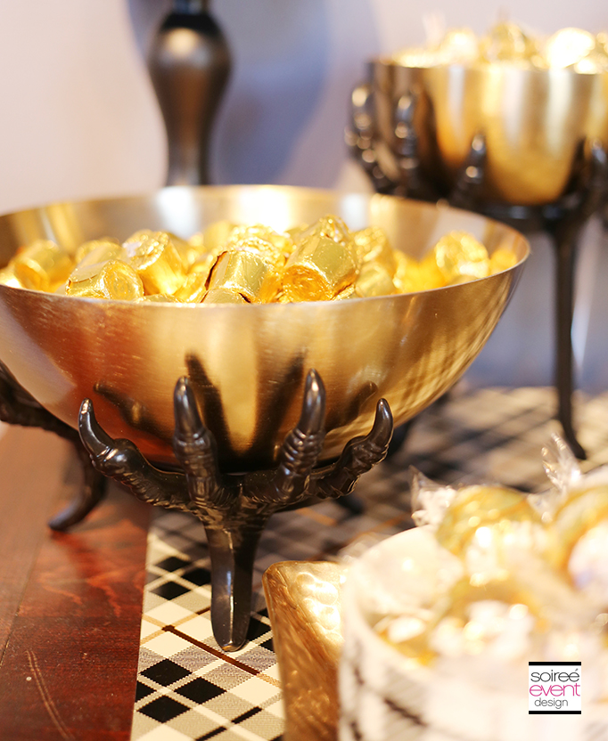 Gold Candy Bowls