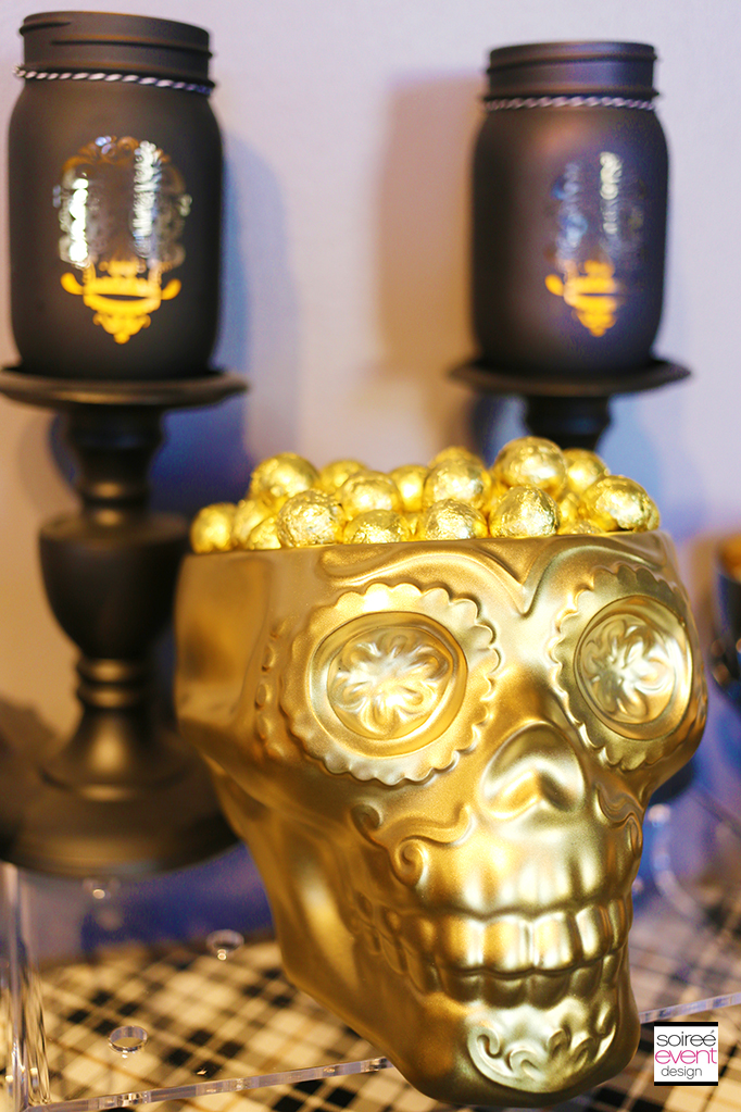 Gold Skull Candy Dish