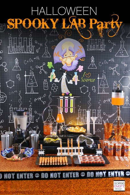 Halloween Spooky Lab Science Party with Fanta and OREO!
