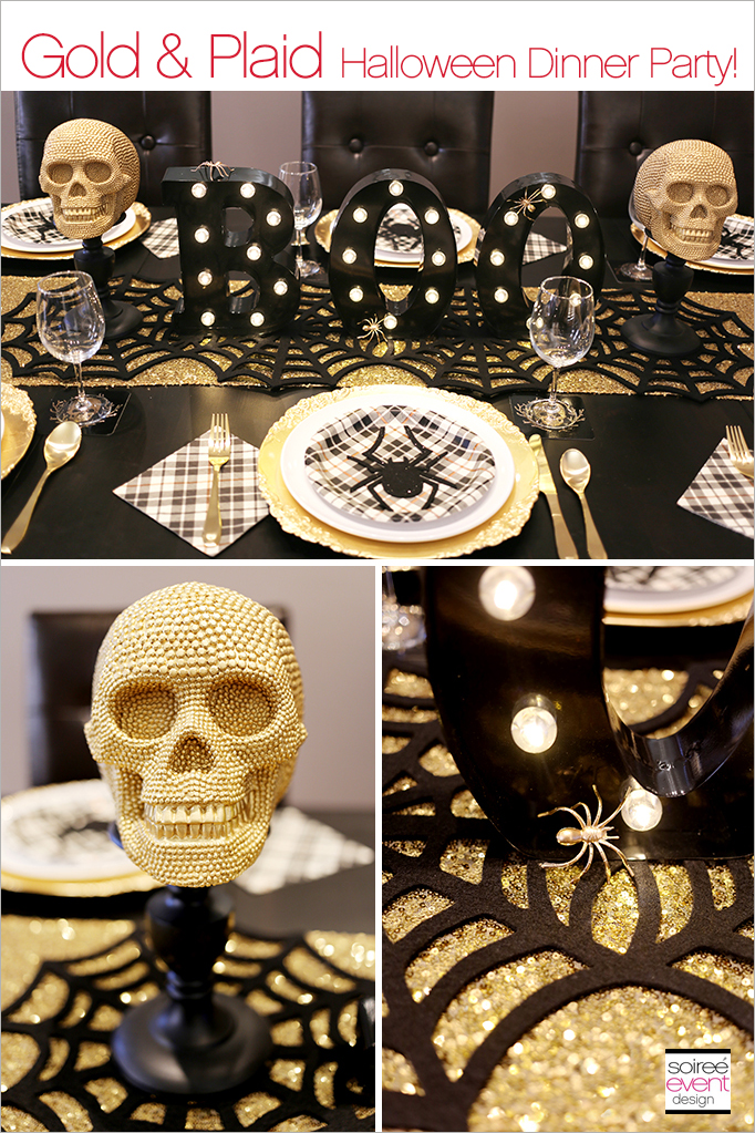 Halloween Glam Party Dining Table