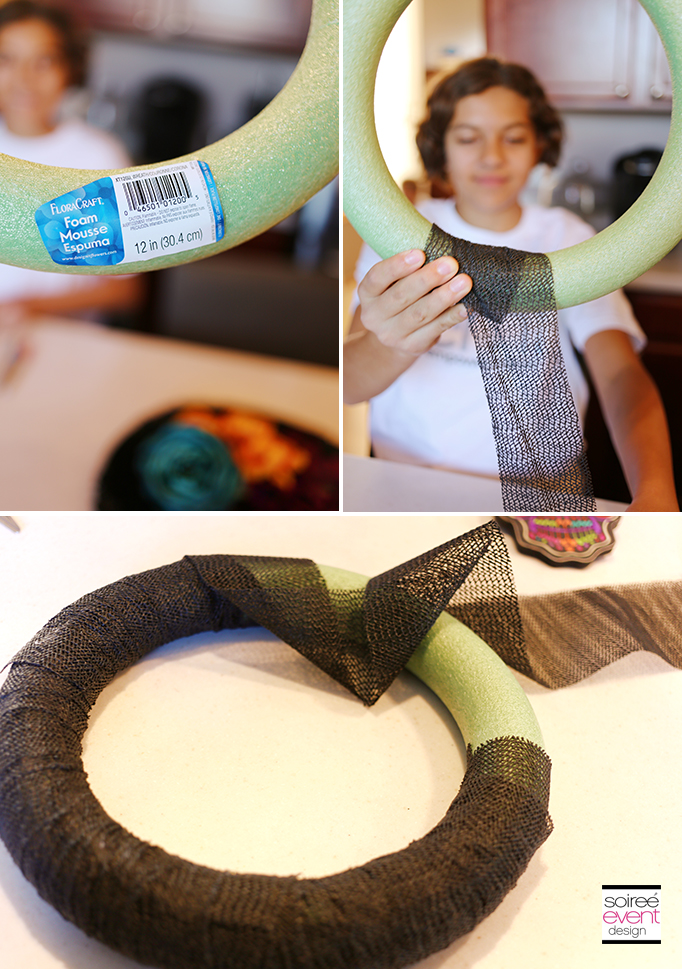 How to Make a Day of the Dead Wreath - Step 1