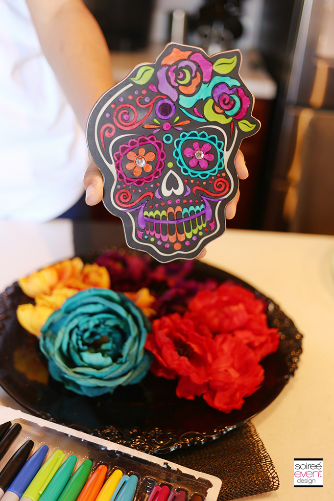 How to Make a Day of the Dead Wreath - Step 2