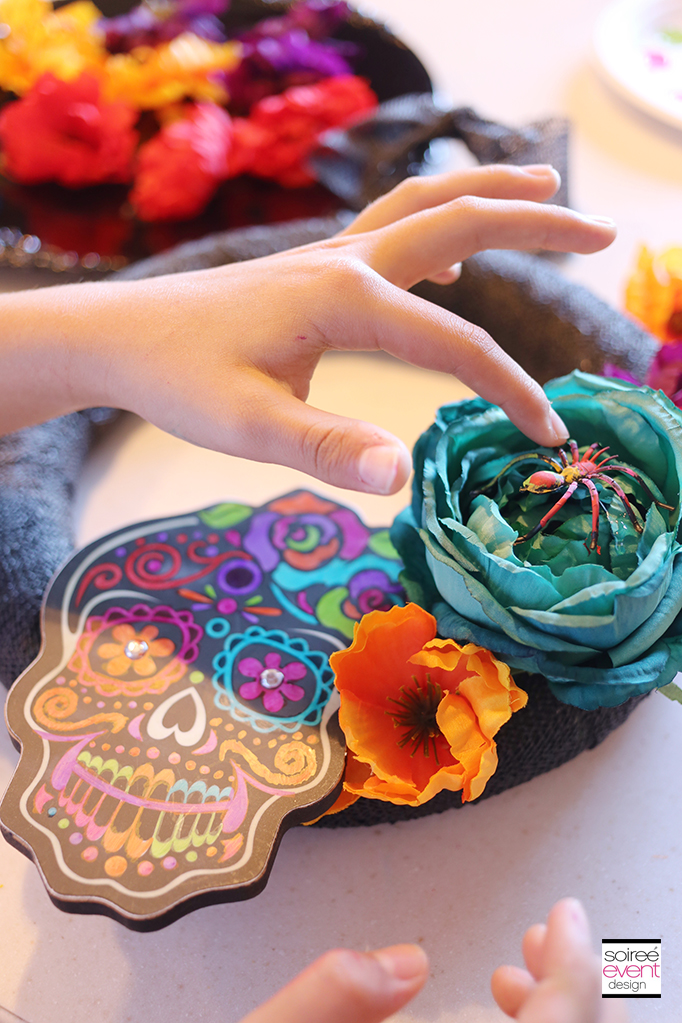 How to Make a Day of the Dead Wreath - Step 4