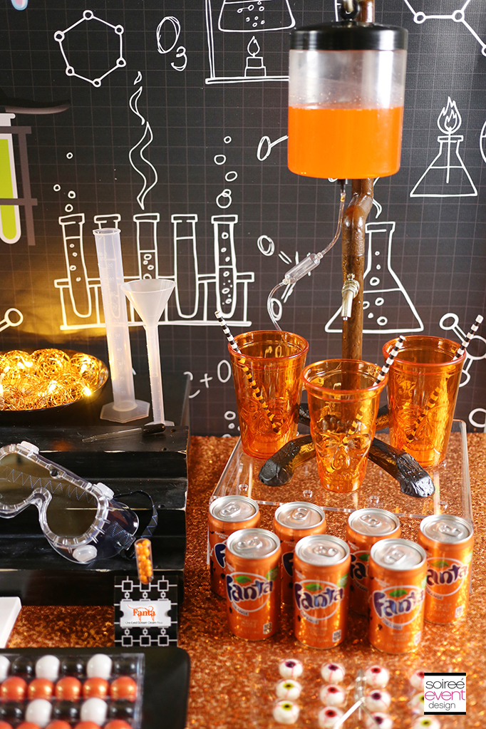 Mad Science party Candy Table