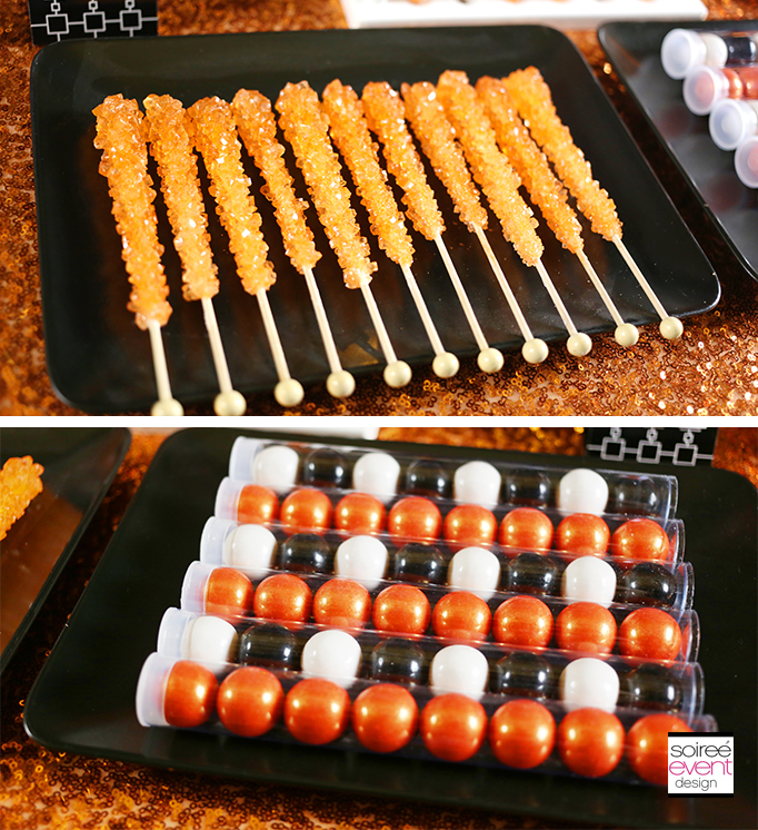 orange and black Halloween candy