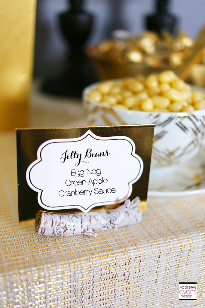 Christmas Candy Bar - Gold Tent Cards