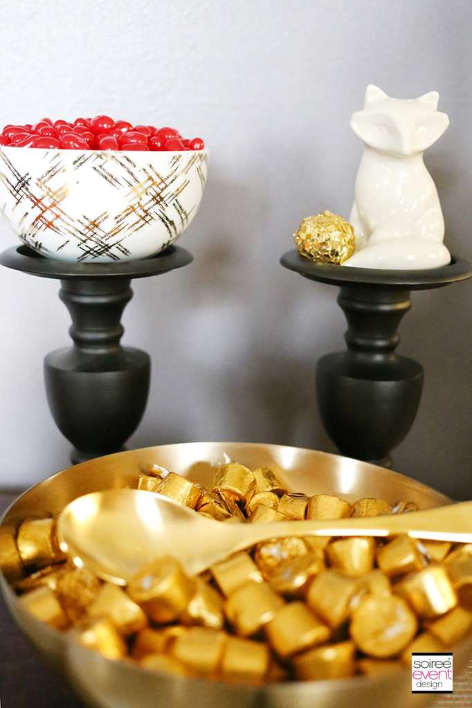 Christmas Candy Table - Gold Cutlery