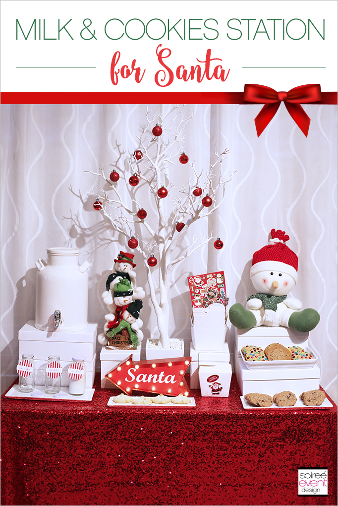 Christmas Milk and Cookies Table