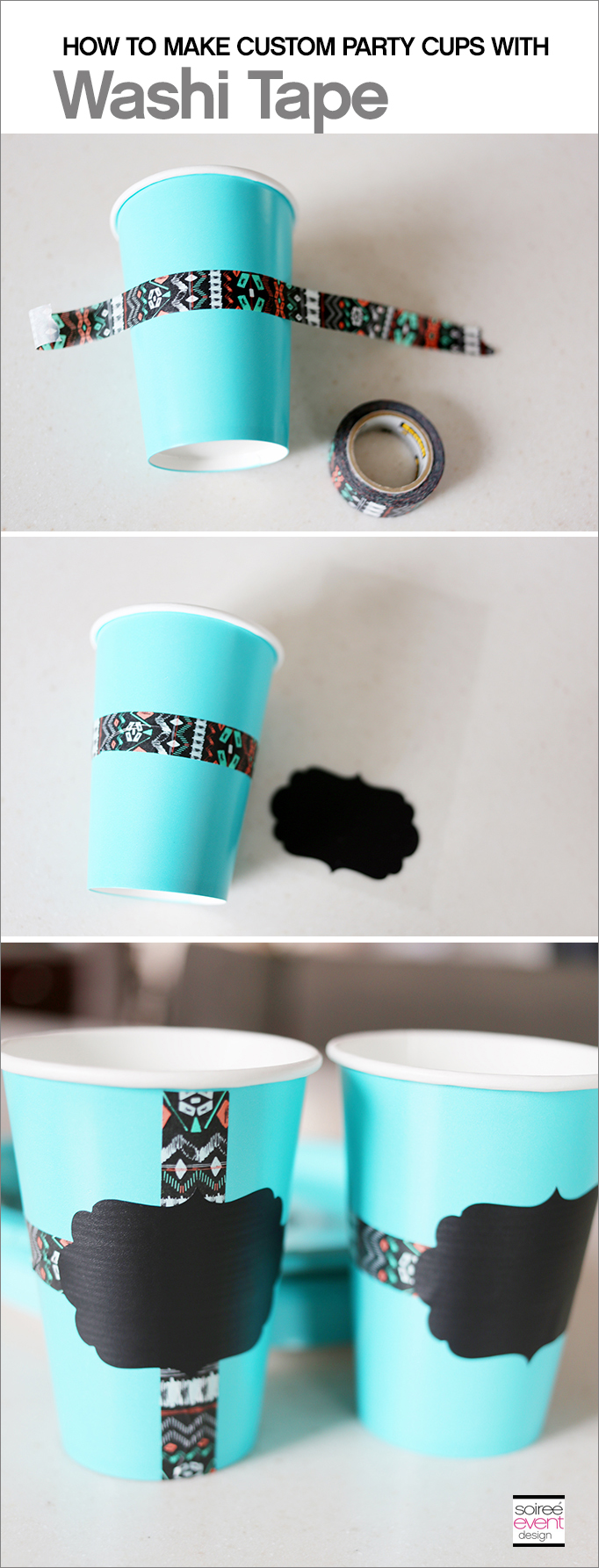 DIY Washi Tape CUPS