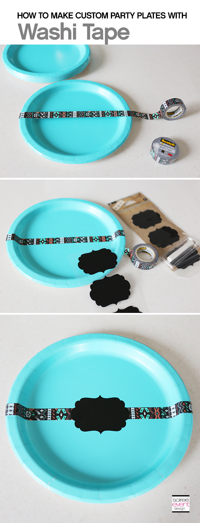 DIY Washi Tape Custom Plates