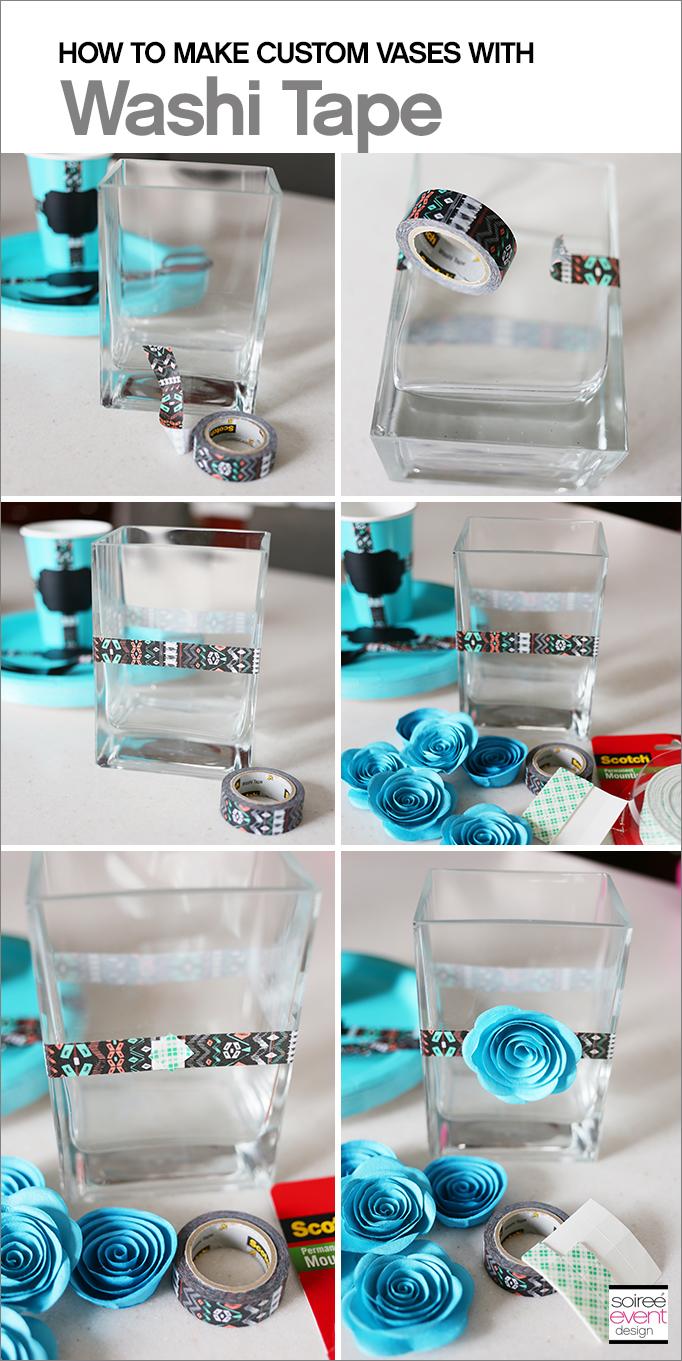 DIY Washi Tape Vases