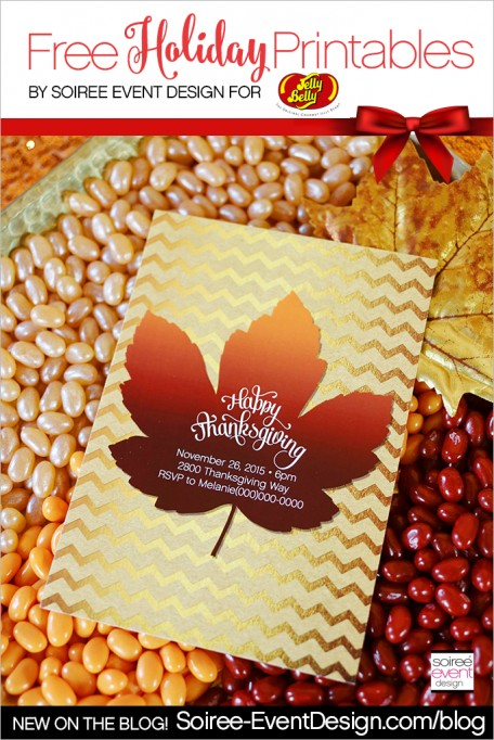 Thanksgiving Jelly Bean Bar + FREE Printables!