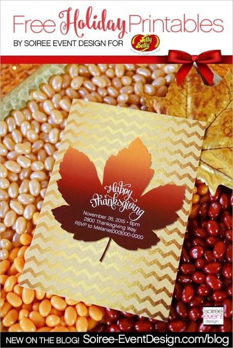 Thanksgiving Jelly Bean Bar + FREE Printables!