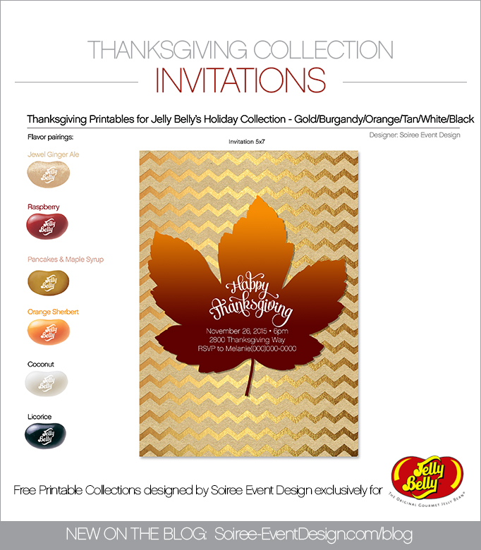 Free Thanksgiving Printable Invitations ORANGE