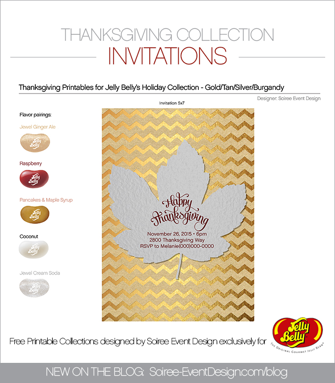 Free Thanksgiving Printable Invitations SILVER