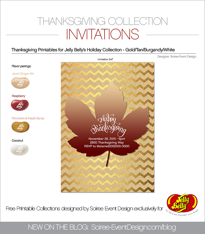 Free Thanksgiving Printable Invitations TAN