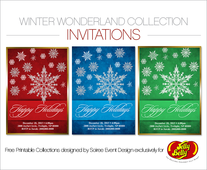 Free Winter Wonderland Printable Invitations