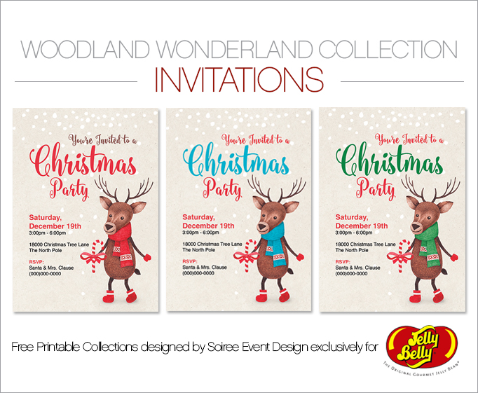 Free Woodland Wonderland Printable Invitations