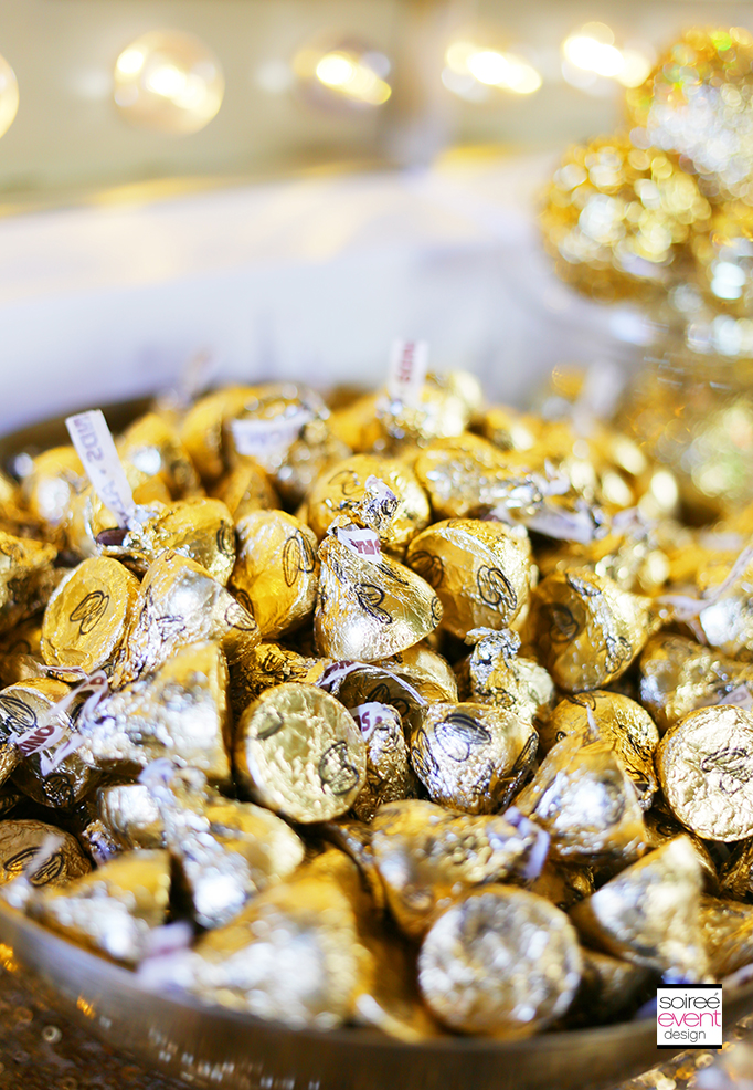 Gold Hershey Kisses