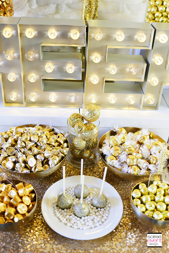 How to Setup a Gold Candy Table 6