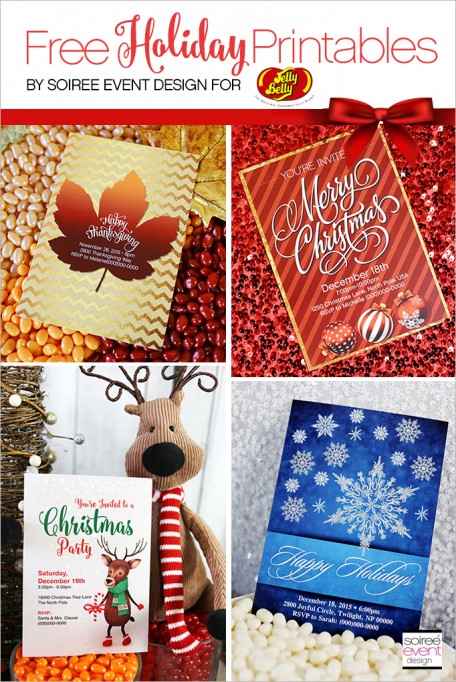 Free Holiday Printables Designed Exclusively for Jelly Belly