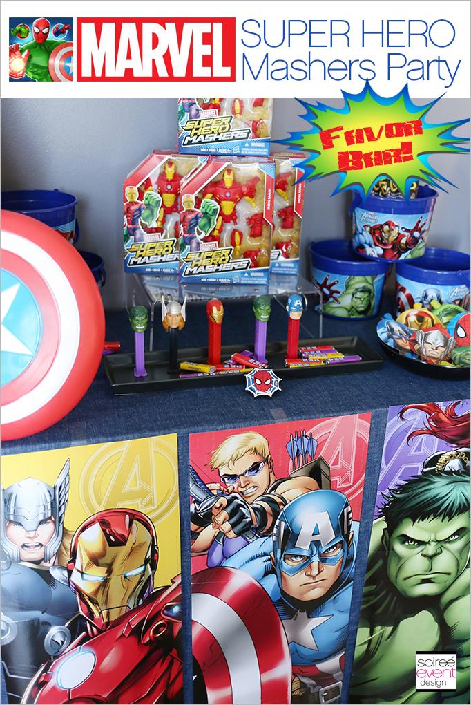 Marvel Super Hero Mashers Party Favor Bar