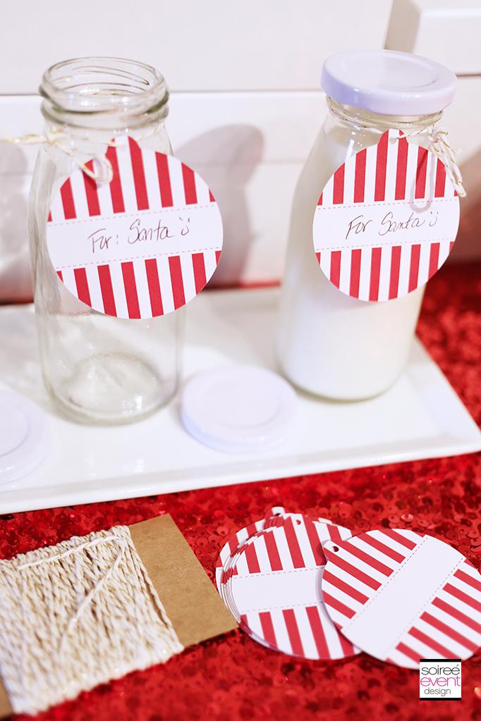 Milk Bottles for Santa