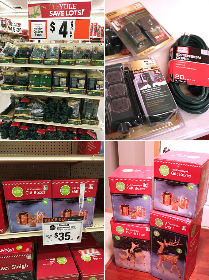 Outdoor Holiday decor from Big Lots