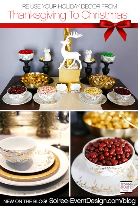 How to Re-Use Your Thanksgiving Decorations in Your Christmas Decor!
