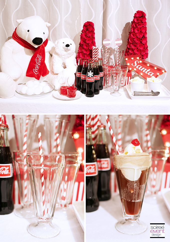 Cherry Coke Floats Drink Station