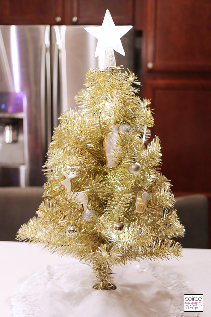 Decorated Gold Mini Tree