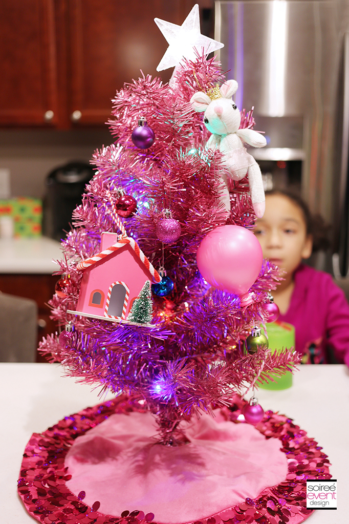 Decorated Pink Mini Tree