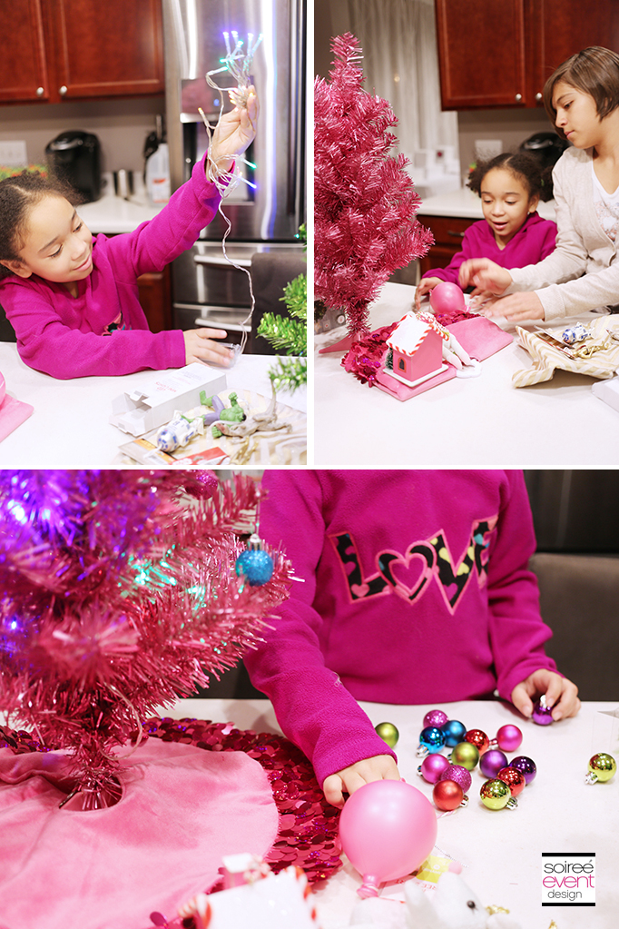 Decorating Mini Trees with the kids