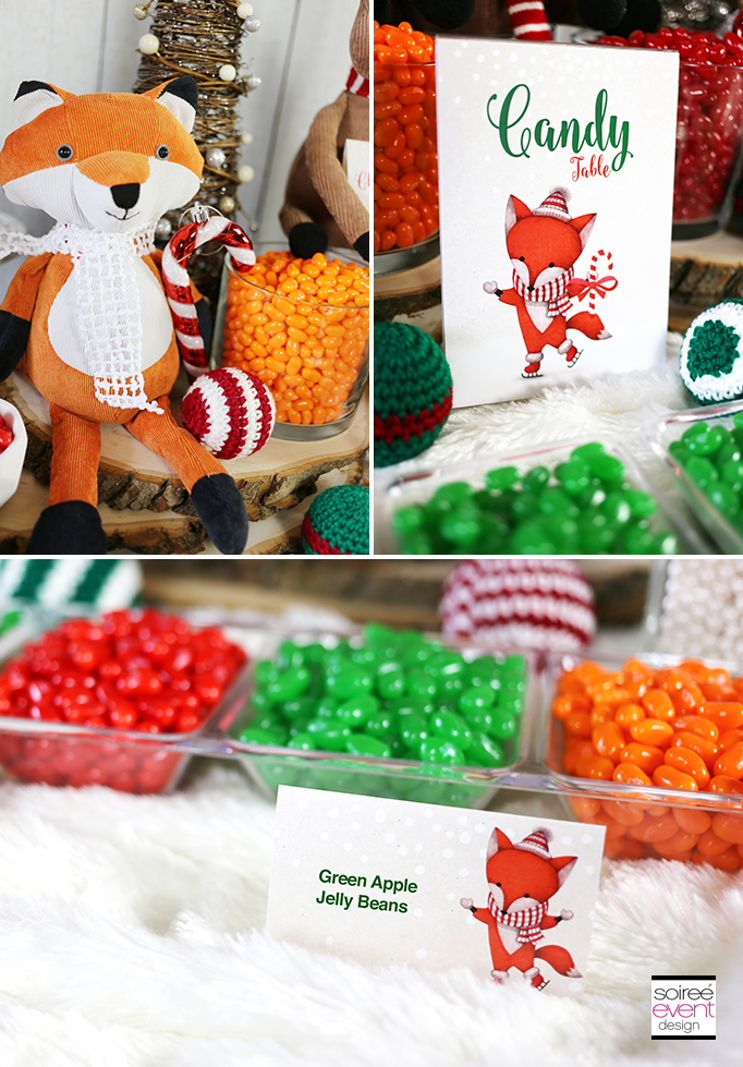 Fox Party Printables - Jelly Bean Bar