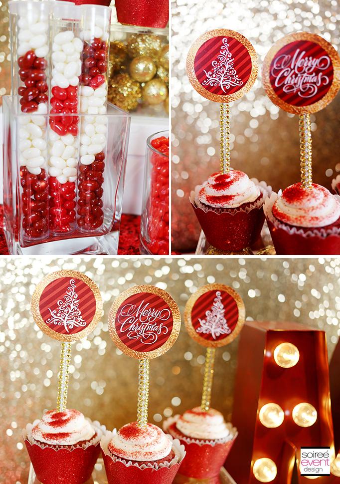 Free Christmas Cupcake Topper Printables
