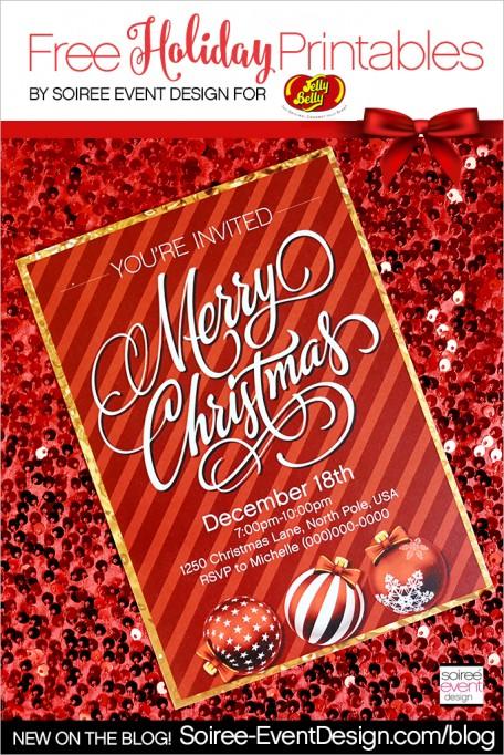 Merry Christmas Jelly Bean Bar + FREE Printables!