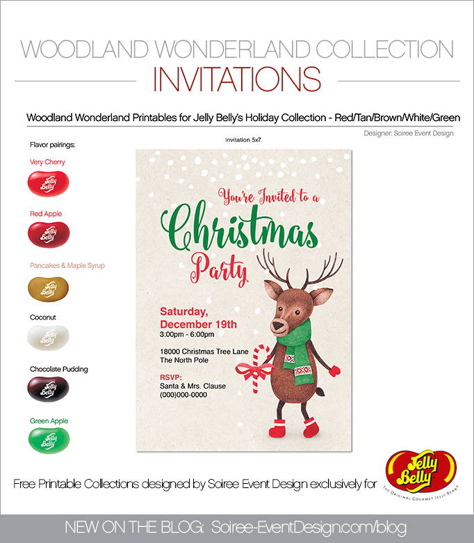 Free Woodland Wonderland Printable Invitations GREEN