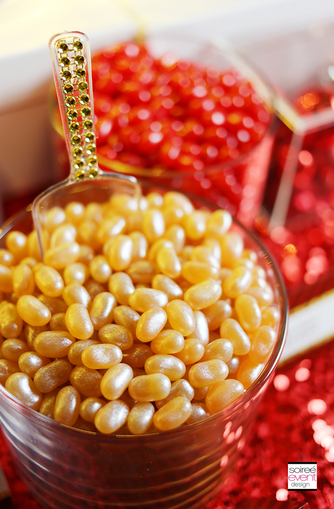 Gold Jelly Beans and Gold Candy Scoop