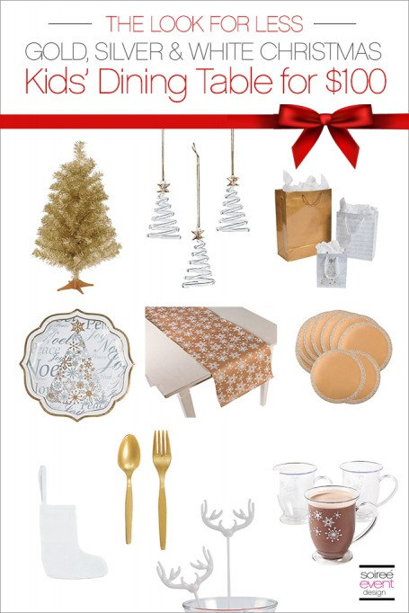 The Look for Less:  Decorate a Christmas Dining Table for Kids for Under $100!