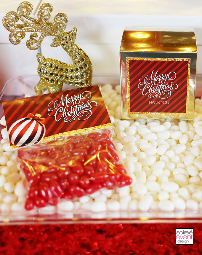 Gold and Red Free Christmas Printables