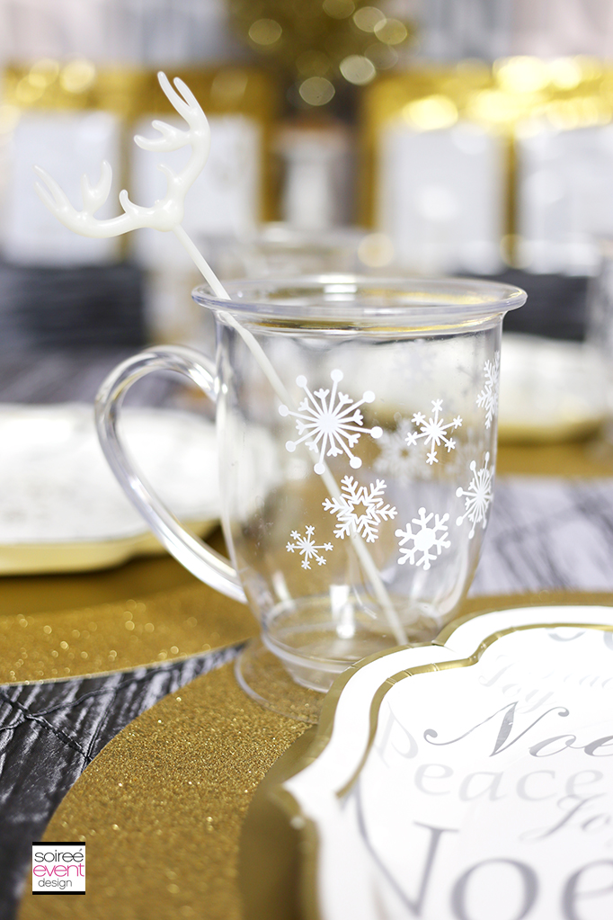 Holiday snowflake mugs