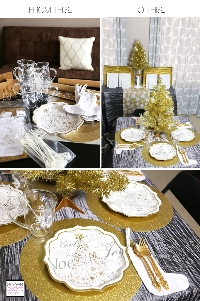 How to design a Kids Christmas Dining Table for Less
